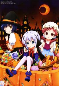 yande.re 335461 sample gochuumon_wa_usagi_desu_ka  halloween heels joukawa_maya kafuu_chino natsu_megumi pantyhose tokuda_kenrou witch